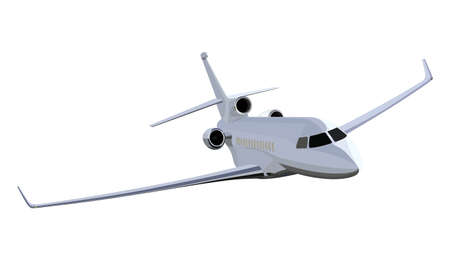 private jet: Jet airplane on a white background Illustration