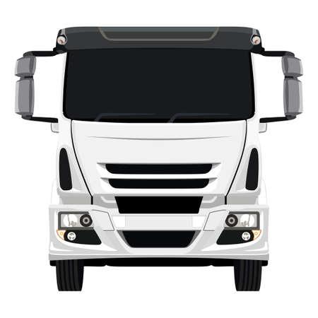 Front of the truck on a white background Ilustração