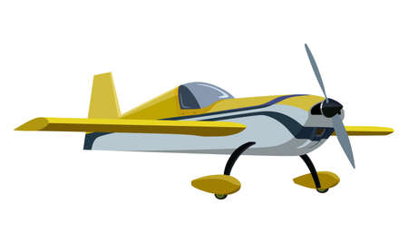 Yellow screw plane on a white background