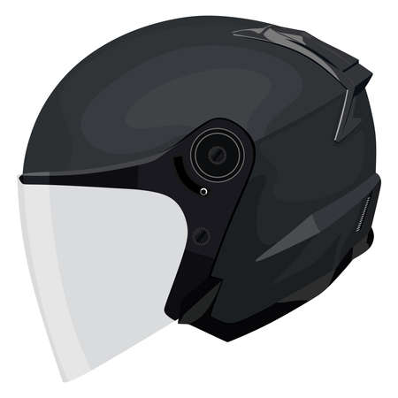 Motorcycle helmet on a white background Vector Illustration