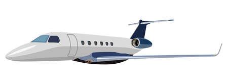 jet airplane: Jet airplane on a white background Illustration