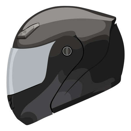 toughness: Motorcycle helmet on a white background Illustration