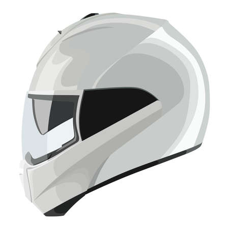 cycling helmet: Motorcycle helmet on a white background Illustration