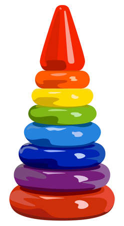 developing: Developing childrens toy rainbow pyramid
