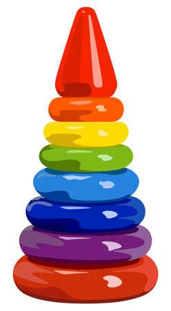 El desarrollo de la pirámide del arco iris juguete de los niños