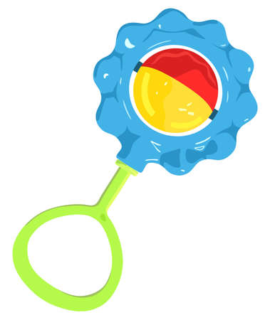 baby playing toy: Baby toy rattle on a white background