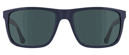 Front blue sunglasses on a white background Illustration
