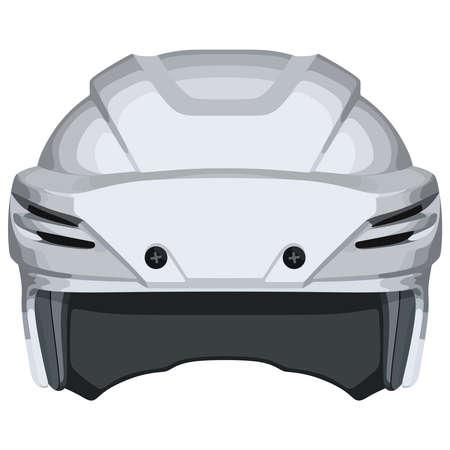 White hockey helmet illustration.