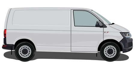 Side of the light commercial vehicle on a white background Illusztráció