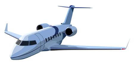 Jet avion sur un fond blanc Vecteurs