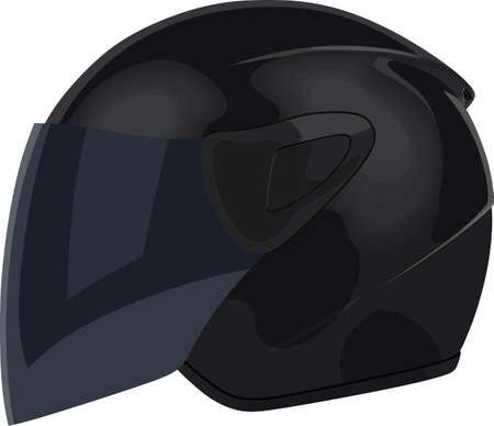 Motorcycle helmet on a white background Illustration