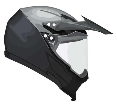 Motorcycle helmet on a white background Ilustração