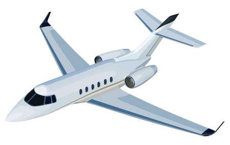 Jet airplane on a white background Çizim