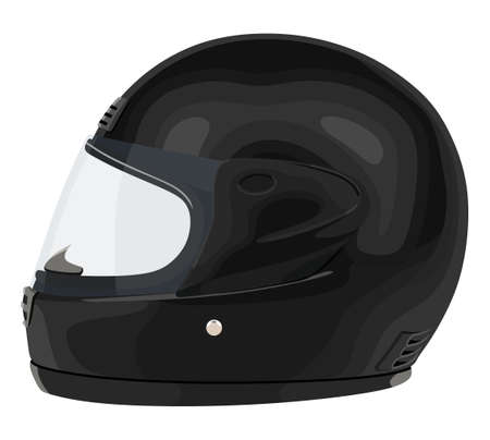 Motorcycle helmet on a white color illustration.