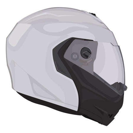 Side motorcycle helmet on a white background