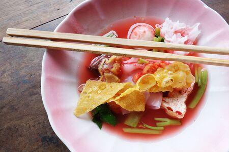 thai noodle: Thai Noodle Yen Ta Fo
