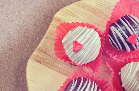 cake ball: Heart Chocolate cake ball