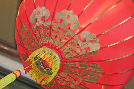 asian red lantern popular during the lunar new year photo