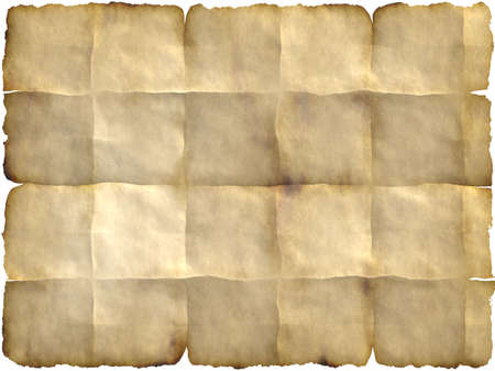 folded paper: blank parchment with folded  edges which can be used as backdrop