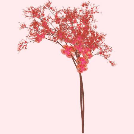 pink colour sakura blossom abstract art Stock Photo - 3407956