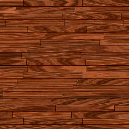 wood laminate: close up of warm brown parquet flooring (seamless tiling) Stock Photo