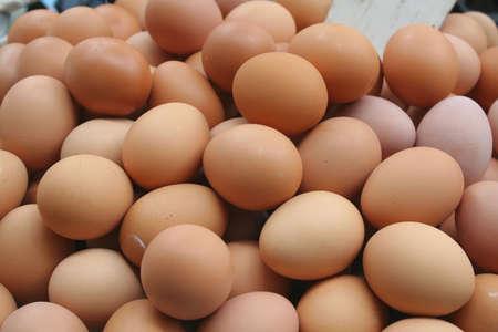 vital: eggs - a vital source of protein Stock Photo