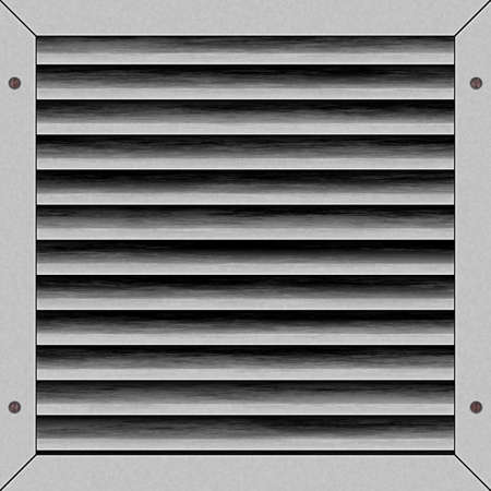 industrial complex: illustration of light gray airvent artwork