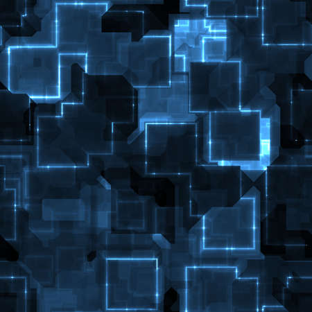 cyber space: illustration of circuitry chips that can be seamlessly tiled