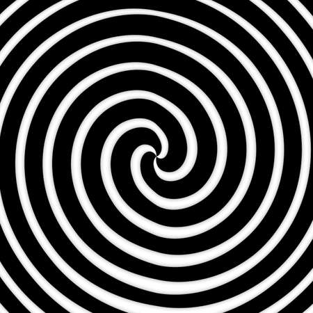 patter: black and white color spiral art work