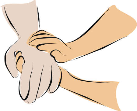 hold hand with palliative care