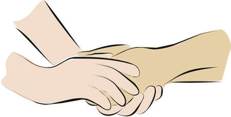 palliative care and hold hands Stock Photo