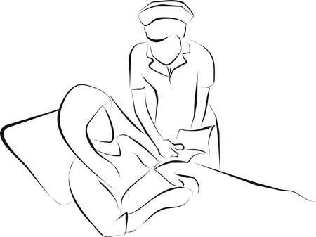 palliative: nurse  reading  a book for a patient