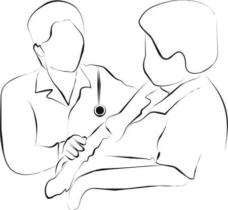palliative: doctor and patient