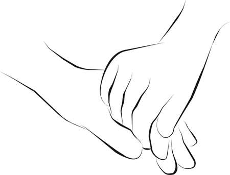 hold hand  and get together Stock Photo