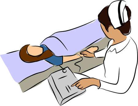 sphygmomanometer: nurse  and Sphygmomanometer