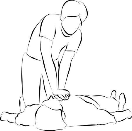 Cardiopulmonary resuscitation or  CPR photo