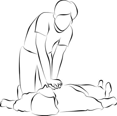 cpr: Cardiopulmonary resuscitation or  CPR Stock Photo