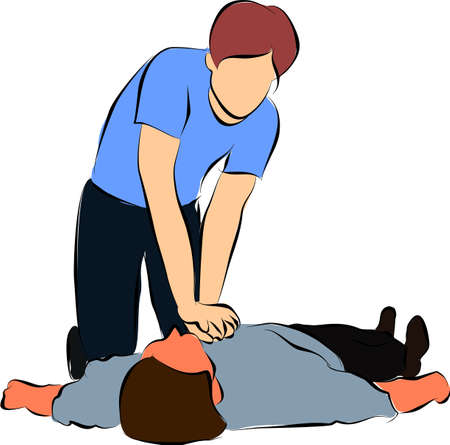 Cardiopulmonary resuscitation or  CPR Stock Photo