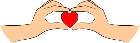Hands is heart shape photo