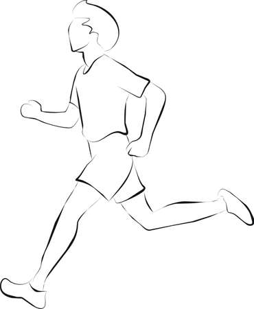 marathon or running  Stock Photo