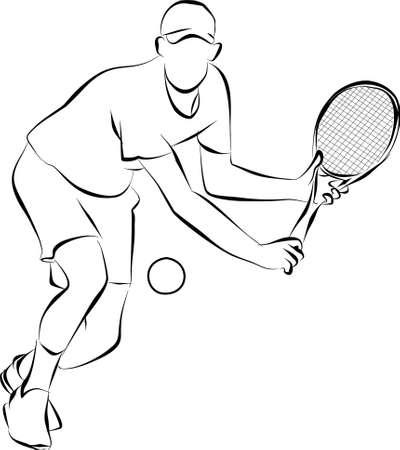 racquet: playing tennis