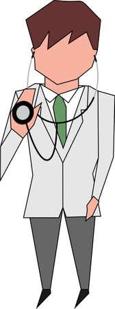 physiotherapist: doctor hold stethoscope Stock Photo