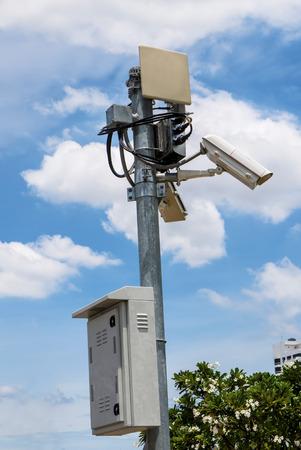 security surveillance cameras In the park photo