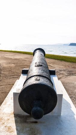 thai ancient cannon Naval Base photo