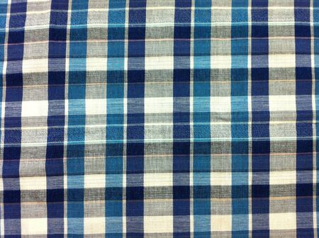 cotton: Abstract plaid fabric texture pattern  Stock Photo