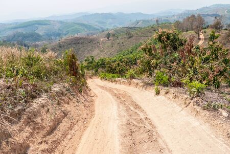 rural areas: Roads in rural areas of developing countries