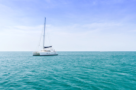 yacht and vacations Park in the Andaman Sea Stock Photo