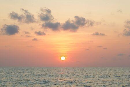 thani: sunset at sea, Koh Phangan,Surat Thani, thailand