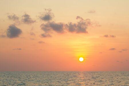 surat: sunset at sea, Koh Phangan,Surat Thani, thailand