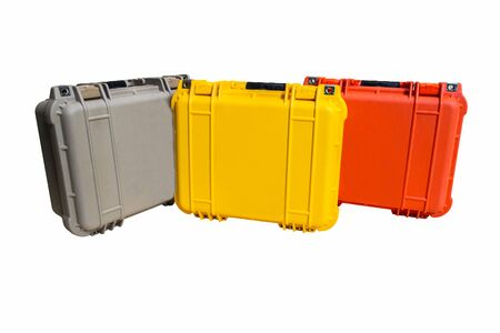 resistant: Hard Case Plastic Protect Water Resistant Equipment, isolated on white